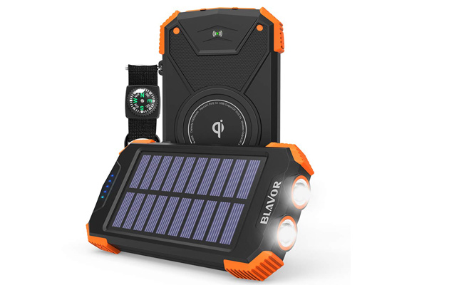 Solar Power Bank, Qi Portable