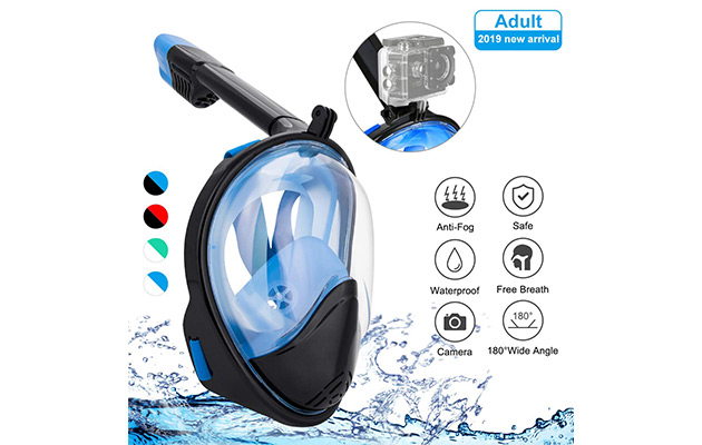 BFULL Snorkel Mask Full Face 180°Panoramic Sea View
