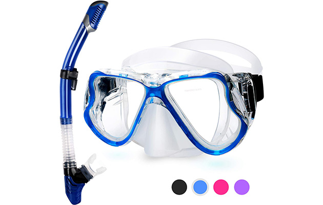 Greatever 2019 Newest Dry Snorkel Set,Panoramic Wide View
