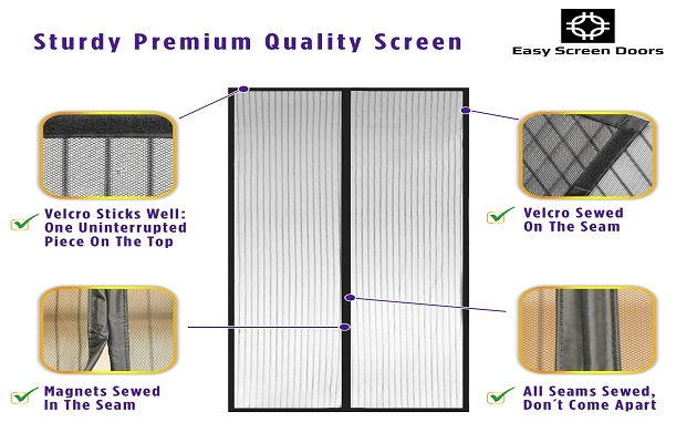 Inch MAX- Magnetic Screen Door