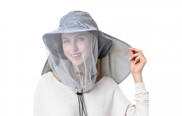Palmyth Mosquito Head Net Hat Safari Hiking Fishing Hats