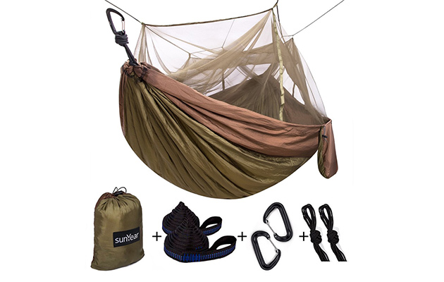 Sunyear Camping Hammock with Mosquito Bug Net