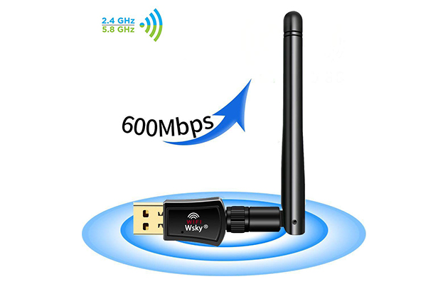 Wsky USB Wi-Fi Adapter 600Mbps