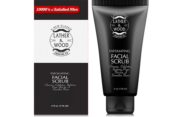 Lather & Wood Face Scrub For Men