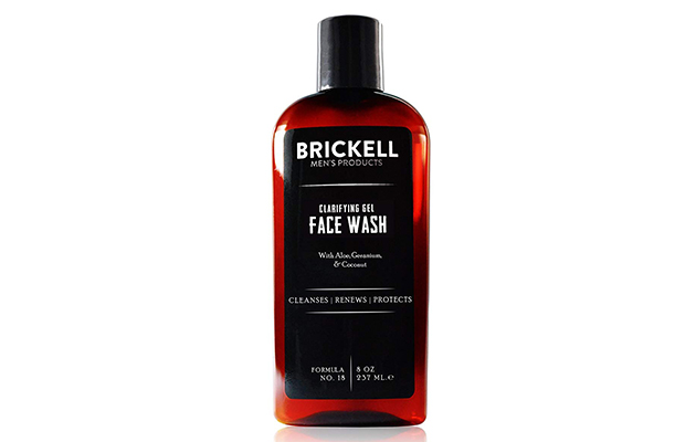 Brickell Clarifying Gel Face Wash for Men