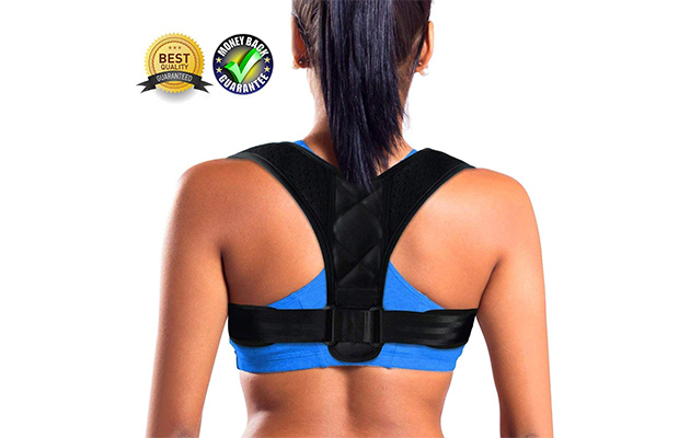 CEDLIZE Posture Corrector Adjustable Back Straightener Brace