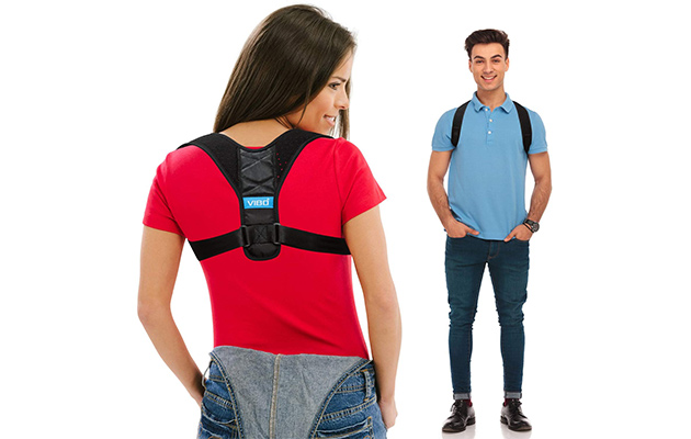 VIBO Care Posture Corrector - Comfortable Upper Back Straightener Brace