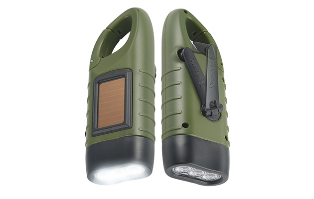 Simpeak Hand Crank Solar Powered Flashlight