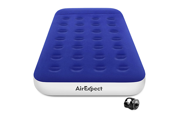 AirExpec Twin Camping Air Mattress with Rechargeable Electric Pump