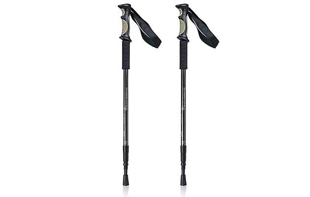 BAFX Adjustable Anti Shock Strong & Lightweight Aluminum Hiking Poles