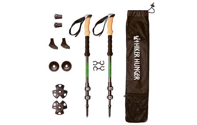 Hiker Hunger New Updated 100% Carbon Fiber Trekking Pole