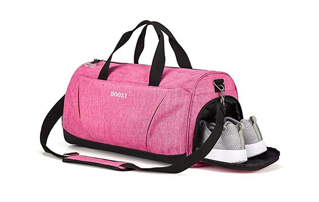 Boost Sports Gym Bag with Wet Pocket & Shoes Compartment for Women & Men
