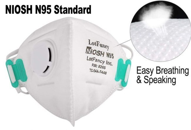 LoTfancy N95 Particulate Respirator Mask with Breathing Valve