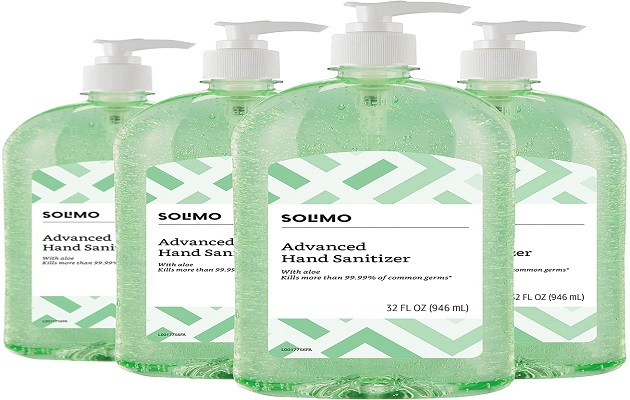 Solimo Hand Sanitizer with Vitamin E and Aloe