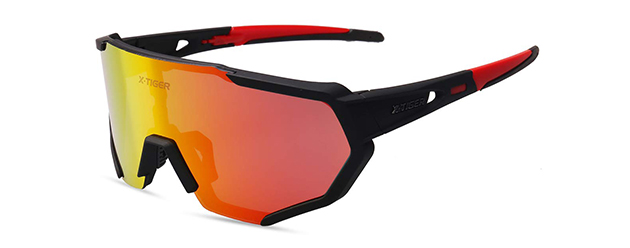 X-TIGER Polarized Cycling Sunglasses with 3 Interchangeable Lenses