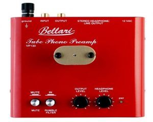 Bellari VP130 Mm Tube Phono Preamplifier With Headphone Amplifier