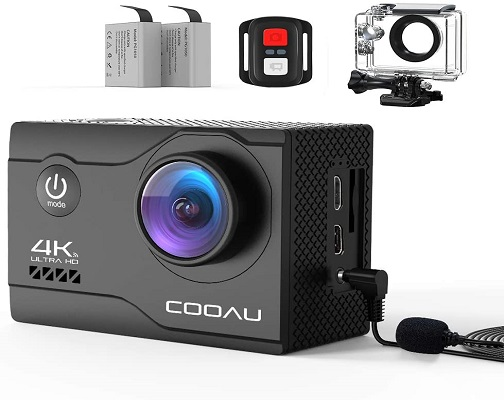 COOAU 4K 20MP Wi-Fi Action Camera Webcam PC Camera