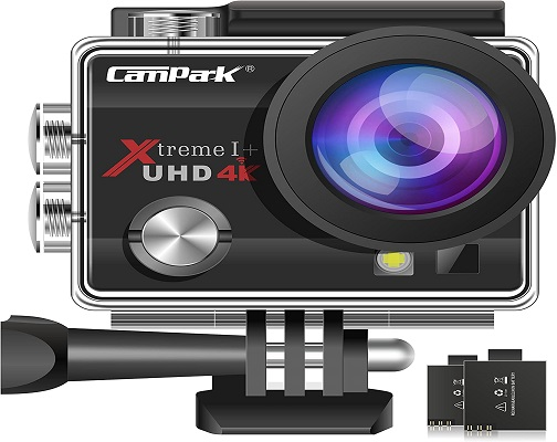 Campark ACT74 Action Camera 4K Ultra HD WiFi Underwater Waterproof Camera