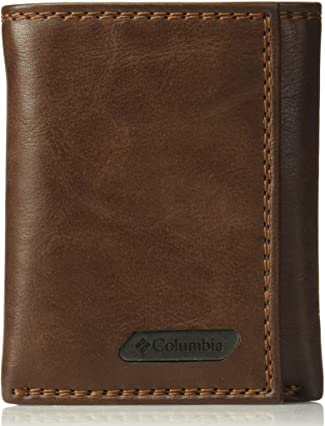 Columbia Men's RFID Blocking Leather Slim Trifold Wallet
