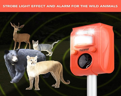 DURANOM Ultrasonic Animal Repeller Outdoor