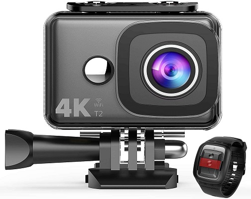 TEC.Bean 4K Action Camera, WiFi 14MP 45M Waterproof Sport Camera