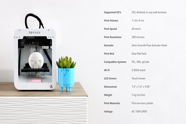 Toybox 3D Printer Specifications