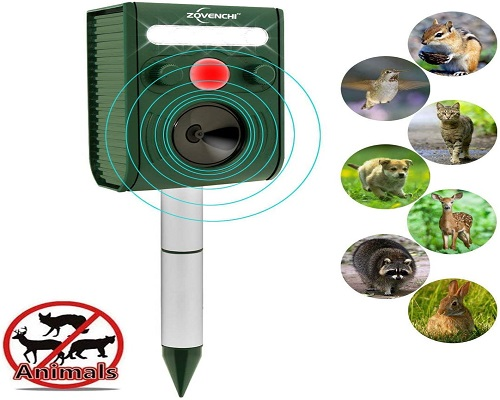 ZOVENCHI Solar Ultrasonic Animal Repeller