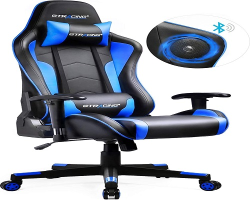 GTRACING Gaming Chair with Bluetooth Speakers Music Video Game Chair