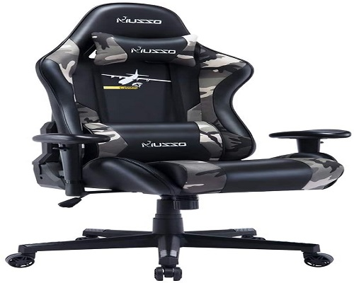 Roll over image to zoom in 4 VIDEOS HugHouse Musso Ergonomic Gaming Chair Adjustable Esports Gamer Chair