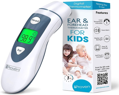 iProven Medical Digital Ear Thermometer with Temporal Forehead Function