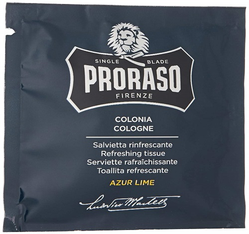 proraso refreshing cologne tissue