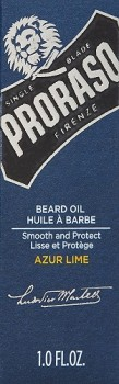 proraso Azur Lime beard oil cypress and vetyver